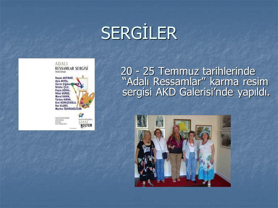 """SERGİLER 20 - 25 Temmuz tarihlerinde """"Adalı Ressamlar"""" karma resim sergisi AKD Galerisi'nde yapıldı. 20 - 25 Temmuz tarihlerinde """"Adalı Ressamlar"""" kar"""