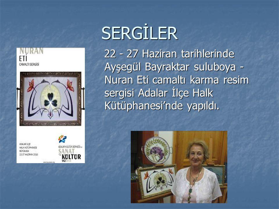 SERGİLER 29 Haziran - 04 Temmuz tarihlerinde Sevda Sarman - Nilüfer Genç'e ait seramik sergisi AKD Galerisi'nde yapıldı.