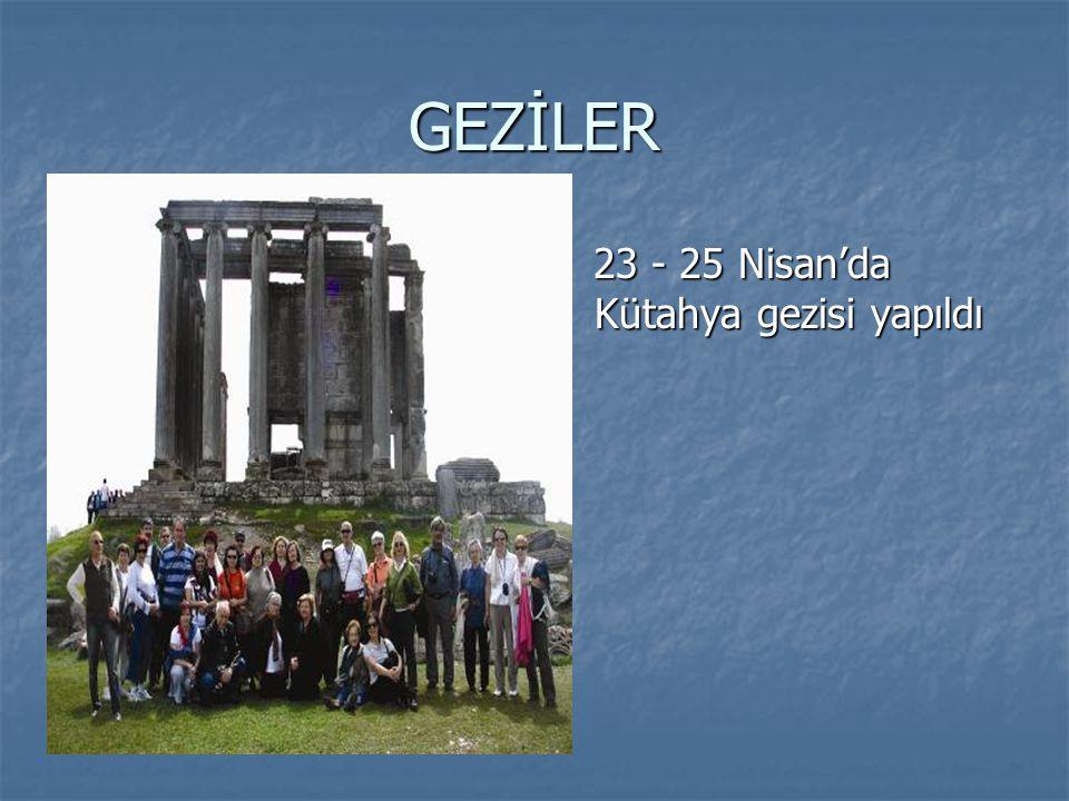 GEZİLER 23 - 25 Nisan'da Kütahya gezisi yapıldı 23 - 25 Nisan'da Kütahya gezisi yapıldı