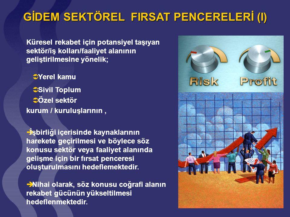 GİDEM SEKTÖREL FIRSAT PENCERELERİ (II) Adıyaman; Tekstil ve Hazır Giyim (THG) Sektörü Tekstil ve Hazır Giyim (THG) Sektörü Sarımsak ürünü ve tarıma dayalı sanayi (Tut ilçesinde).