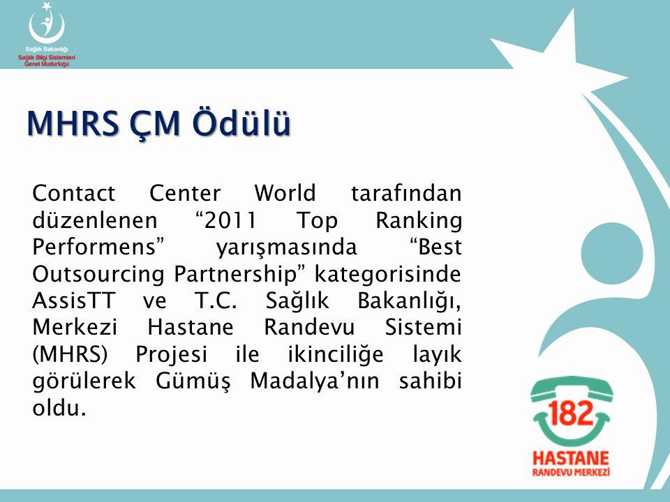 Contact Center World tarafından düzenlenen 2011 Top Ranking Performens yarışmasında Best Outsourcing Partnership kategorisinde AssisTT ve T.C.