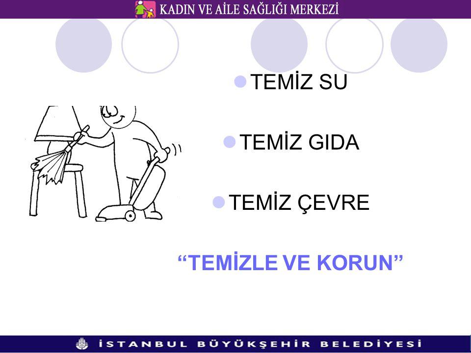 """TEMİZ SU TEMİZ GIDA TEMİZ ÇEVRE """"TEMİZLE VE KORUN"""""""
