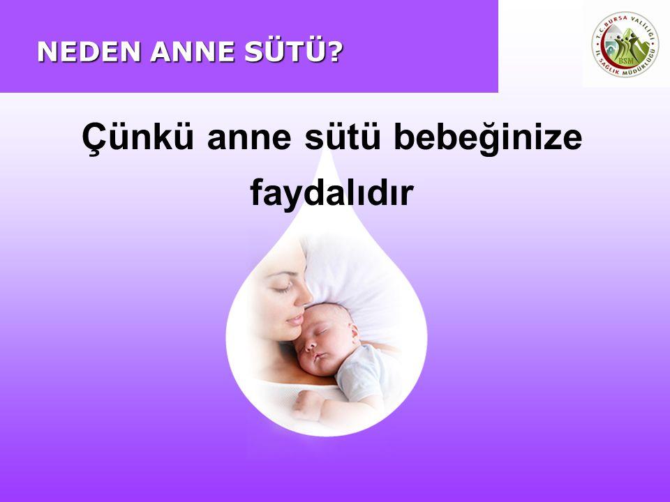 NEDEN ANNE SÜTÜ? Çünkü anne sütü bebeğinize faydalıdır