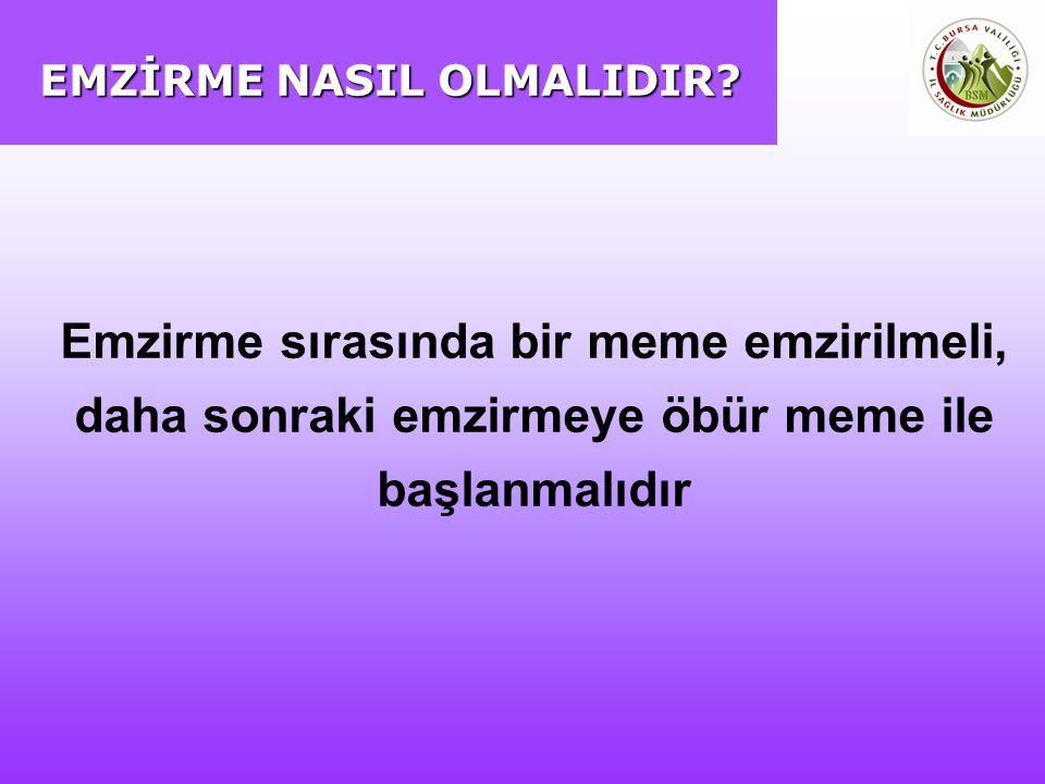 EMZİRME NASIL OLMALIDIR.