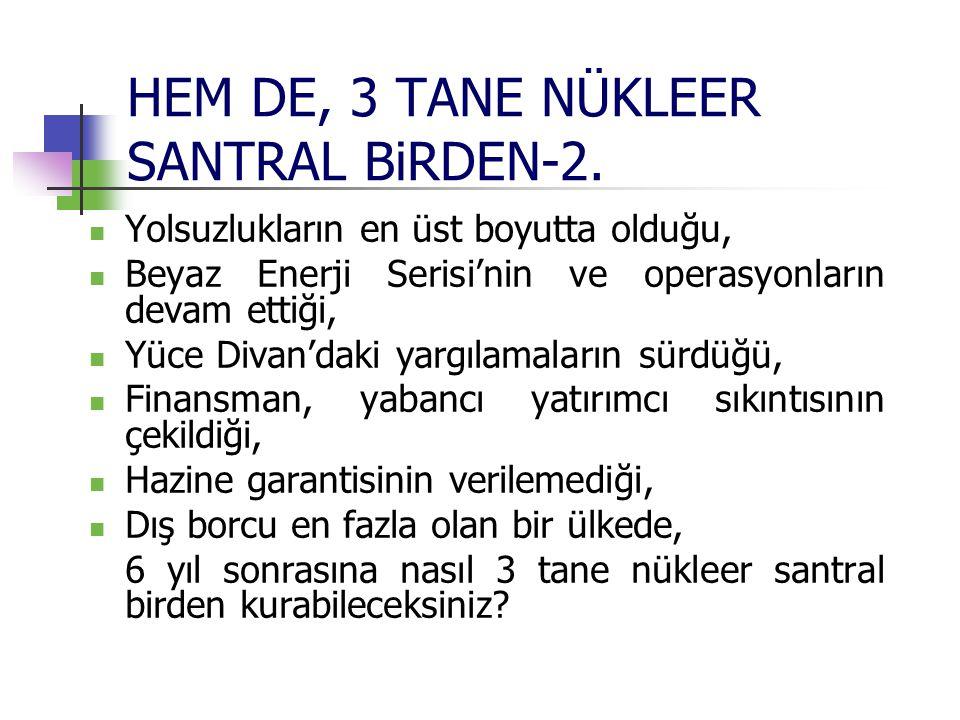 HEM DE, 3 TANE NÜKLEER SANTRAL BiRDEN-2. Yolsuzlukların en üst boyutta olduğu, Beyaz Enerji Serisi'nin ve operasyonların devam ettiği, Yüce Divan'daki