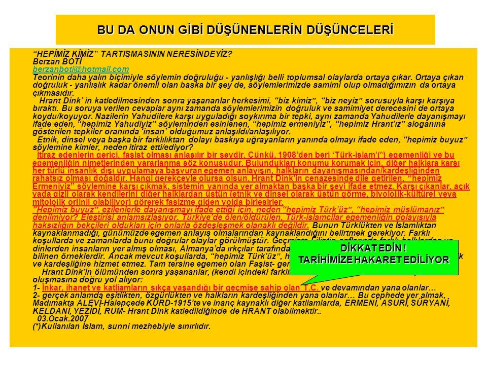 Hrank Dink e 6 ay hapis Agos gazetesindeki bir yazıda Türklüğün tahkir ve tezyif edildiği gerekçesiyle açılan davada, Fırat (Hrant) Dink 6 ay hapis cezasına çarptırıldı.