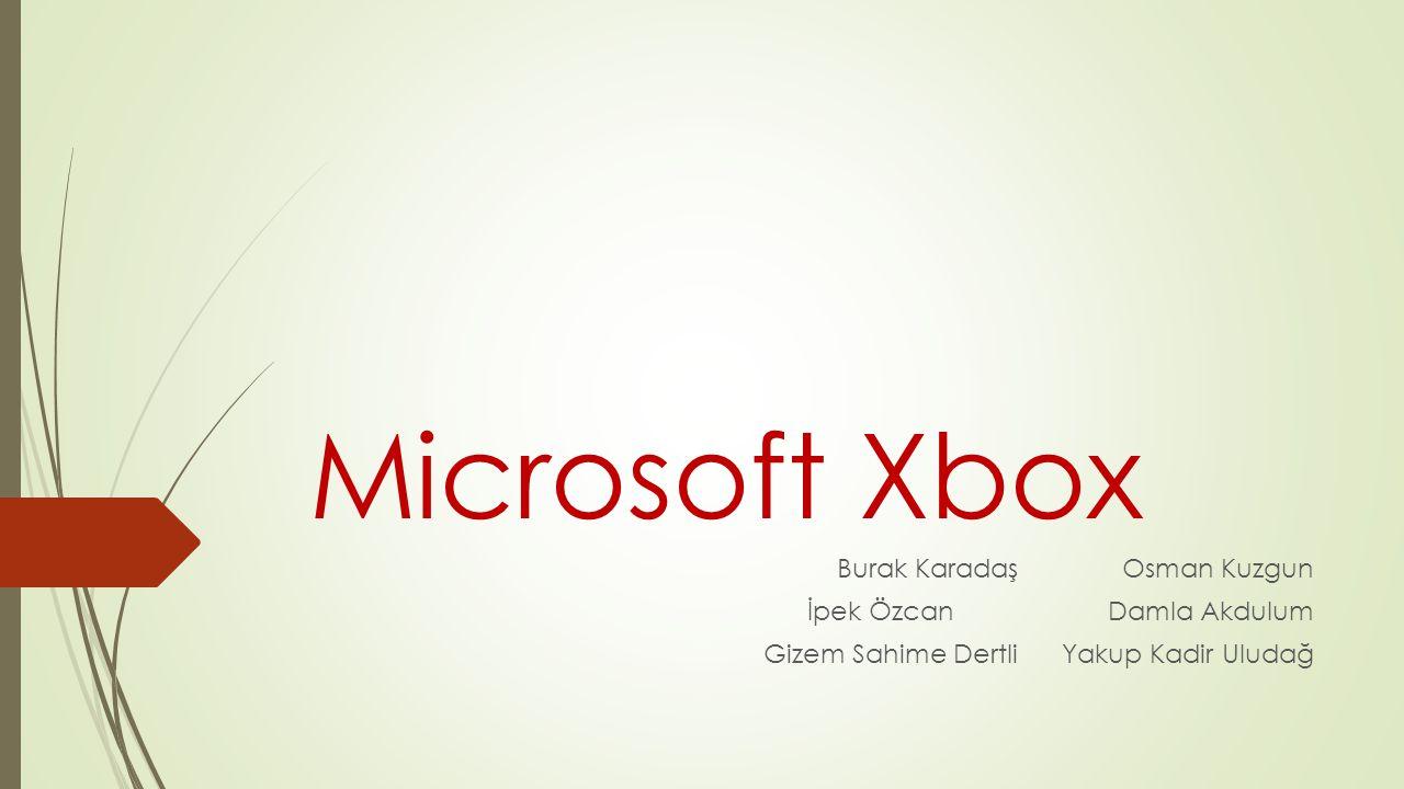 Microsoft Xbox Burak Karadaş Osman Kuzgun İpek Özcan Damla Akdulum Gizem Sahime Dertli Yakup Kadir Uludağ