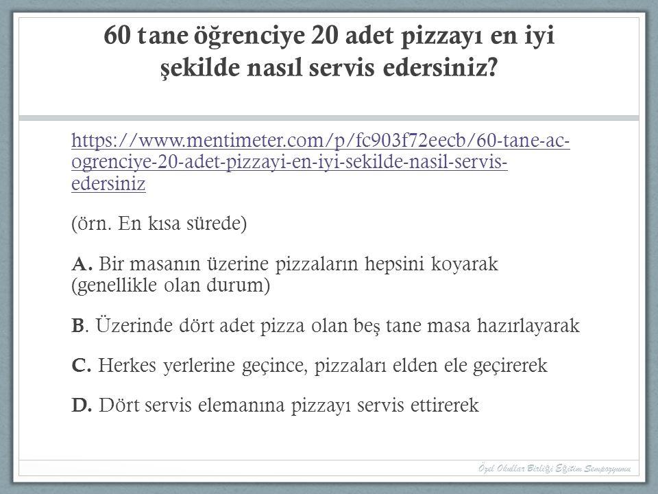 60 tane ö ğ renciye 20 adet pizzayı en iyi ş ekilde nasıl servis edersiniz? https://www.mentimeter.com/p/fc903f72eecb/60-tane-ac- ogrenciye-20-adet-pi