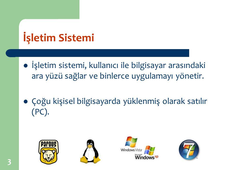 4 İşletim Sistemi Gelişmiş işletim sistemleri aynı zamanda birçok karmaşık işlemi yerine getirme yeteneğine sahiptir.