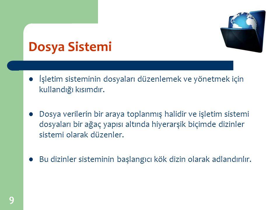 10 İşletim Sisteminin (İS) İşlevleri Genel olarak tüm işletim sistemlerinin ortak görevleri şu şekilde açıklanabilir.