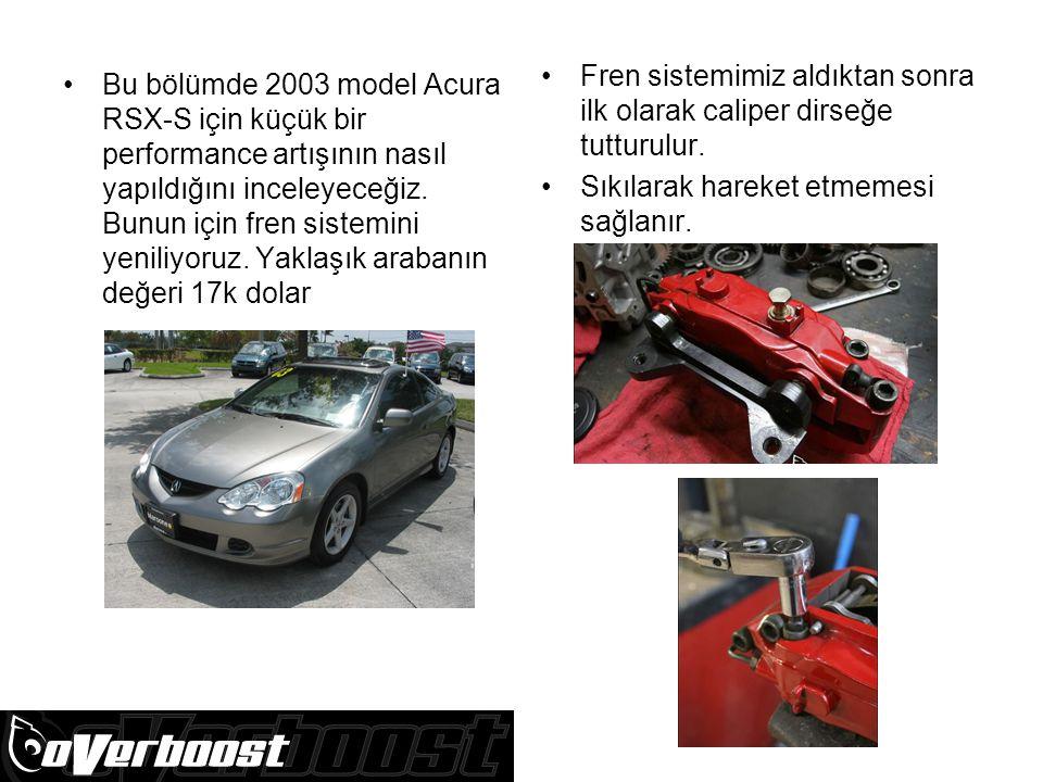 Bu bölümde 2003 model Acura RSX-S için küçük bir performance artışının nasıl yapıldığını inceleyeceğiz.