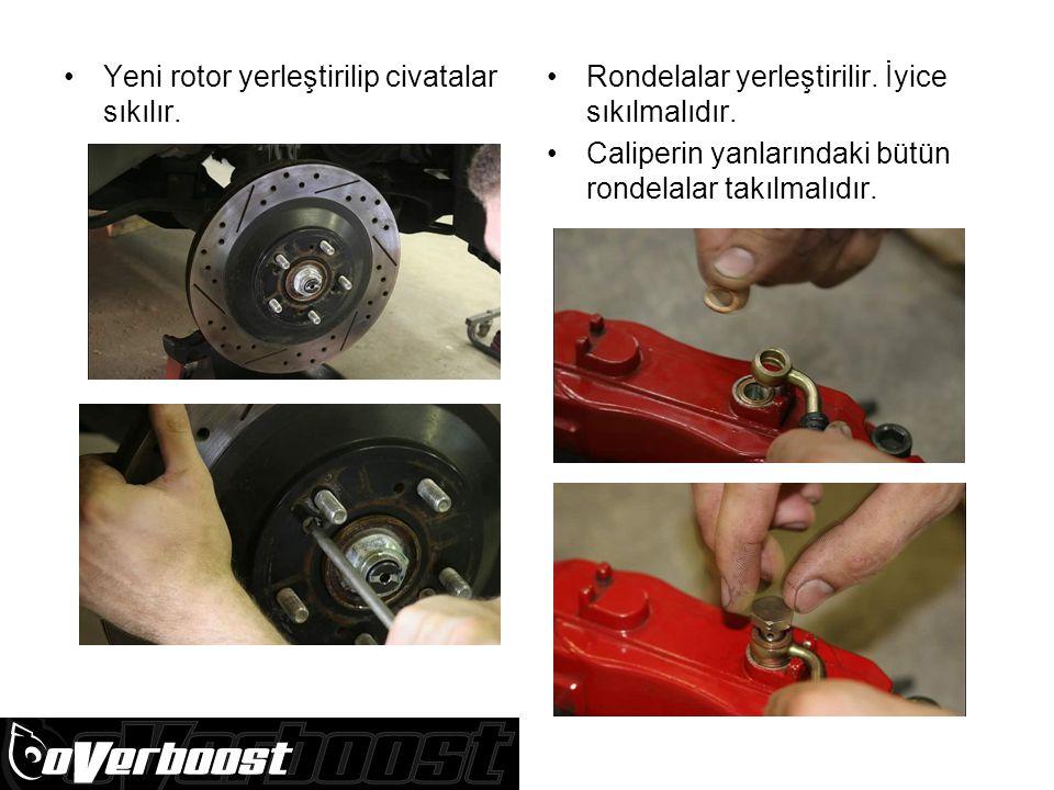 Yeni rotor yerleştirilip civatalar sıkılır.Rondelalar yerleştirilir.