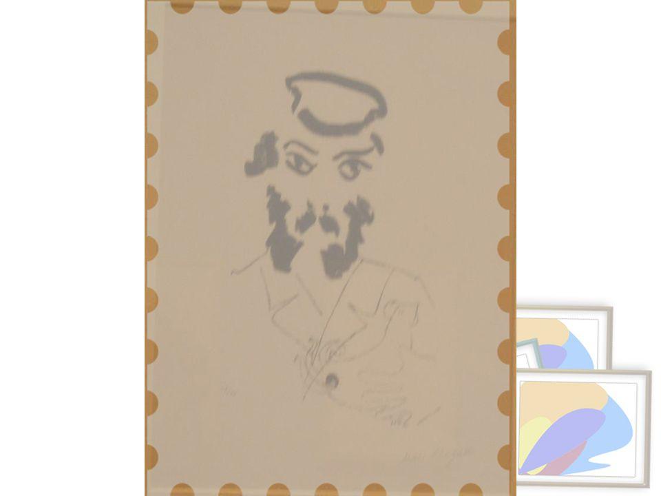 Yahudiyle Horoz, (Kapara), y.1922-23 Taşbaskı, 28/35 Paul Barchan'ın miras yoluyla bağışı, Paris Jew with Cock, (Kapparah),c.