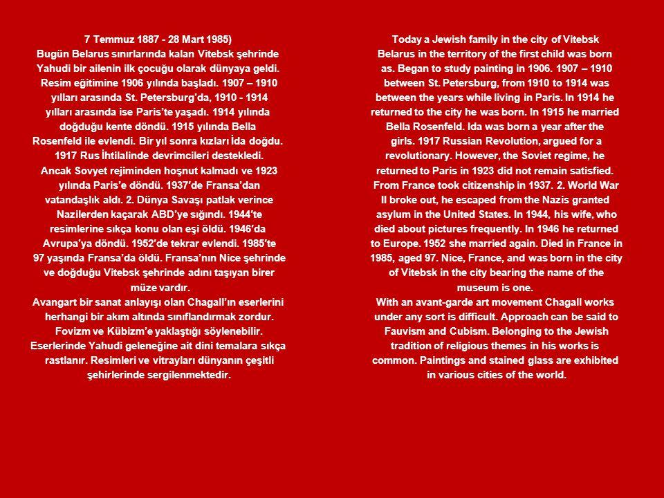 Chambon –sur-Lac'taki Kilise,1926 Kağıt üstüne guvaş ve suluboya Oscar Fischer'ın armağanı,Tel Aviv The Church at Chambon –sur-Lac, 1926, Gouache and watercolor on paper Gift of Oscar Fischer, Tel Aviv