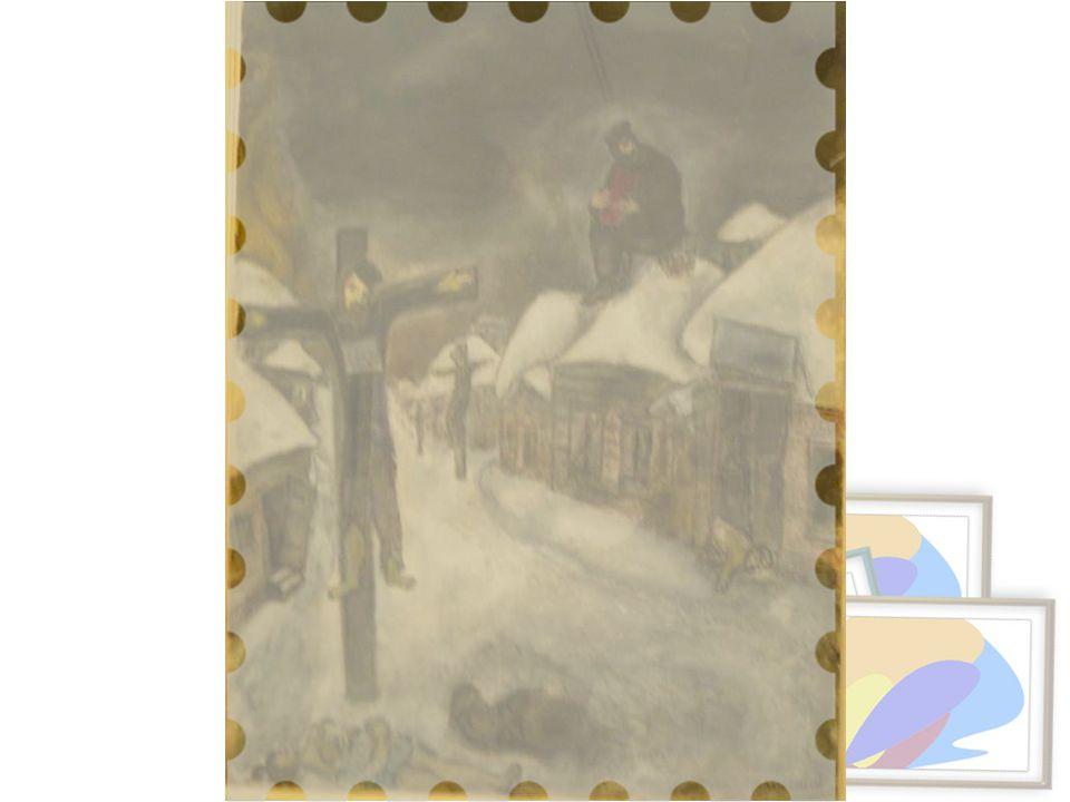 Çarmıha Geriliş, 1944 Kağıt üstüne kurşunkalem, guvaş ve suluboya Victoria Babin tarafından Amerika İsrail Kültür Vakfı aracılığıyla uzun süreli olarak ödünç verilmiştir.