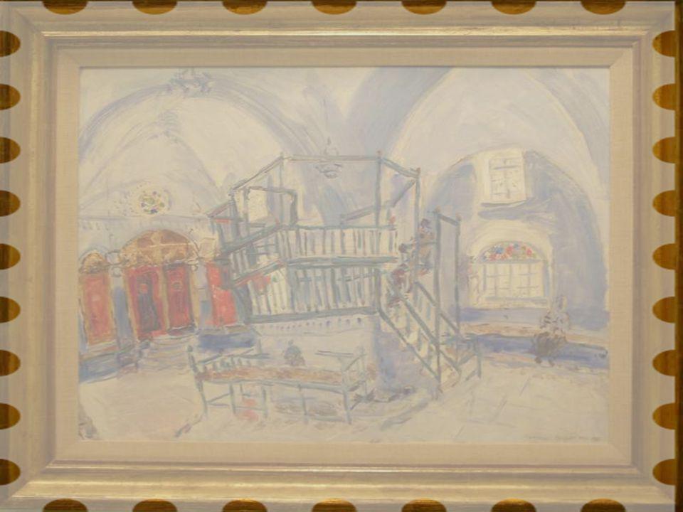Sefad'daki Bir Sinagoğun İçi, 1931 Tuval üstüne yağlıboya Renee ile Lester Crown, Edith Haas, Hon, Averell Harriman, Loula Lasker, Edward D.