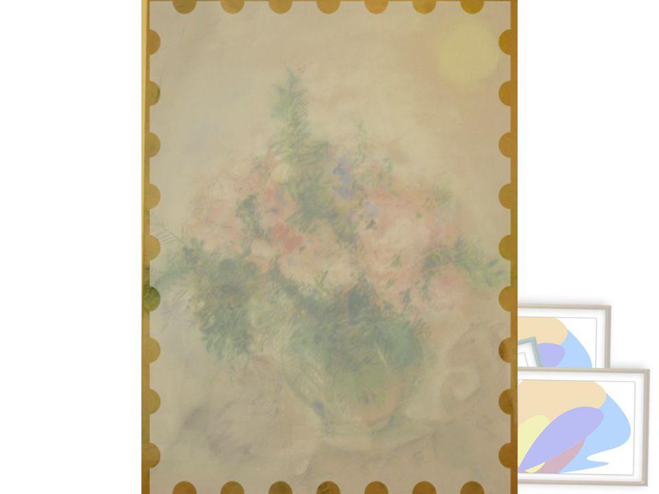 Gündoğumu-Çiçekler, tarihsiz Karton üstüne karakalem ve pastel Simon Tekla Bond'un (New York) İsrail Müzesi'nin Amerikalı Dostlarına bırakılmıştır.