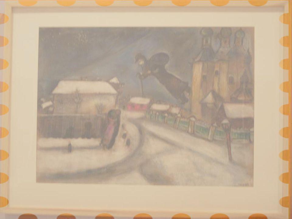 Vitebsk Üzerinde, tarihsiz Karton üstüne kurşunkalem,çini mürekkebi,guvaş,suluboya,grafit ve karakalem Anna Salzmann Koleksiyonu,Paris İsrail Devleti'ne armağan edilmiştir.