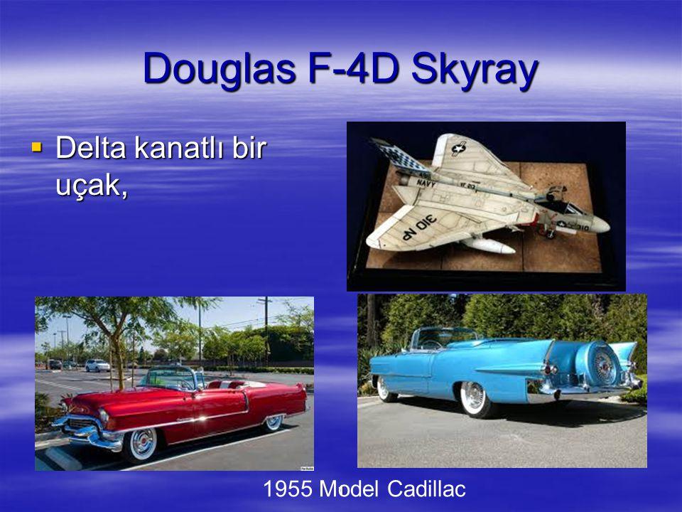 1 Douglas F-4D Skyray  Delta kanatlı bir uçak, 1955 Model Cadillac