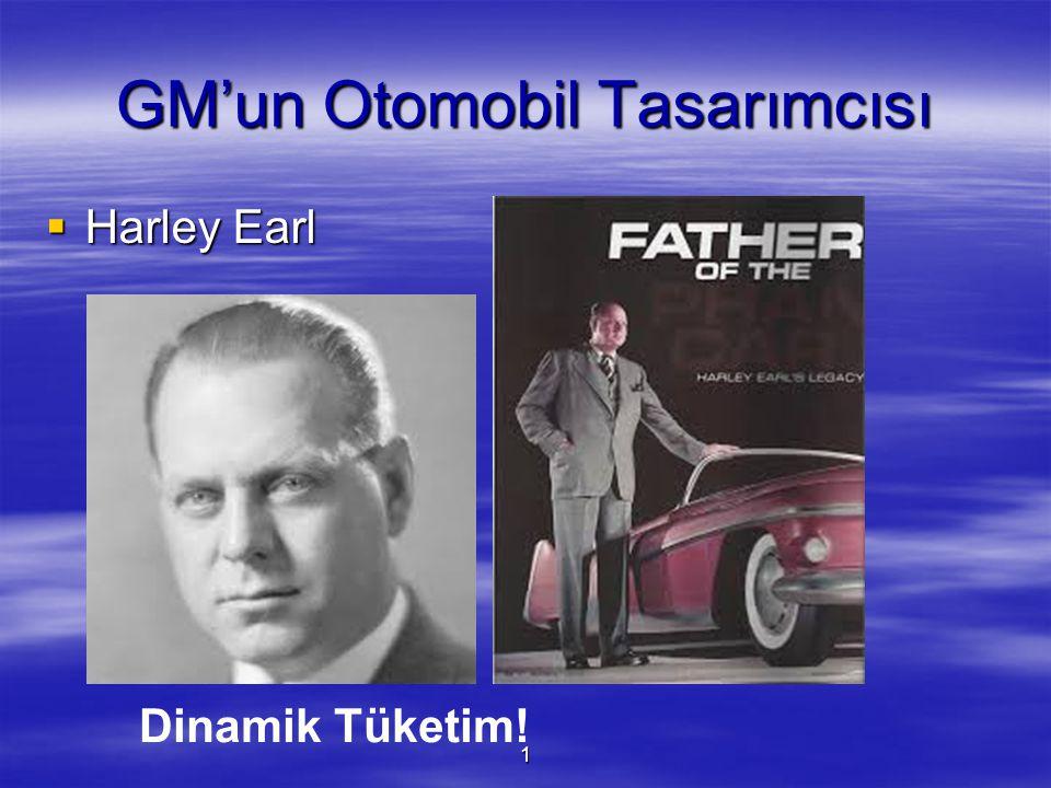 1 GM'un Otomobil Tasarımcısı  Harley Earl Dinamik Tüketim!
