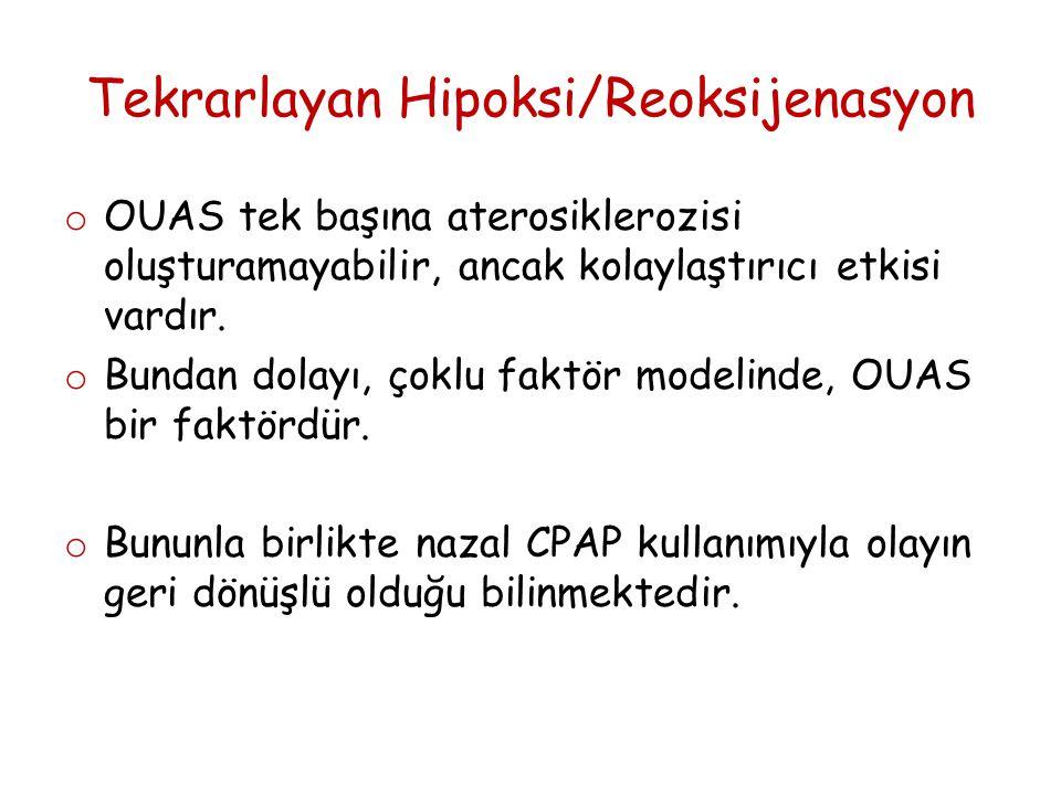 Tekrarlayan Hipoksi/Reoksijenasyon o OUAS tek başına aterosiklerozisi oluşturamayabilir, ancak kolaylaştırıcı etkisi vardır.