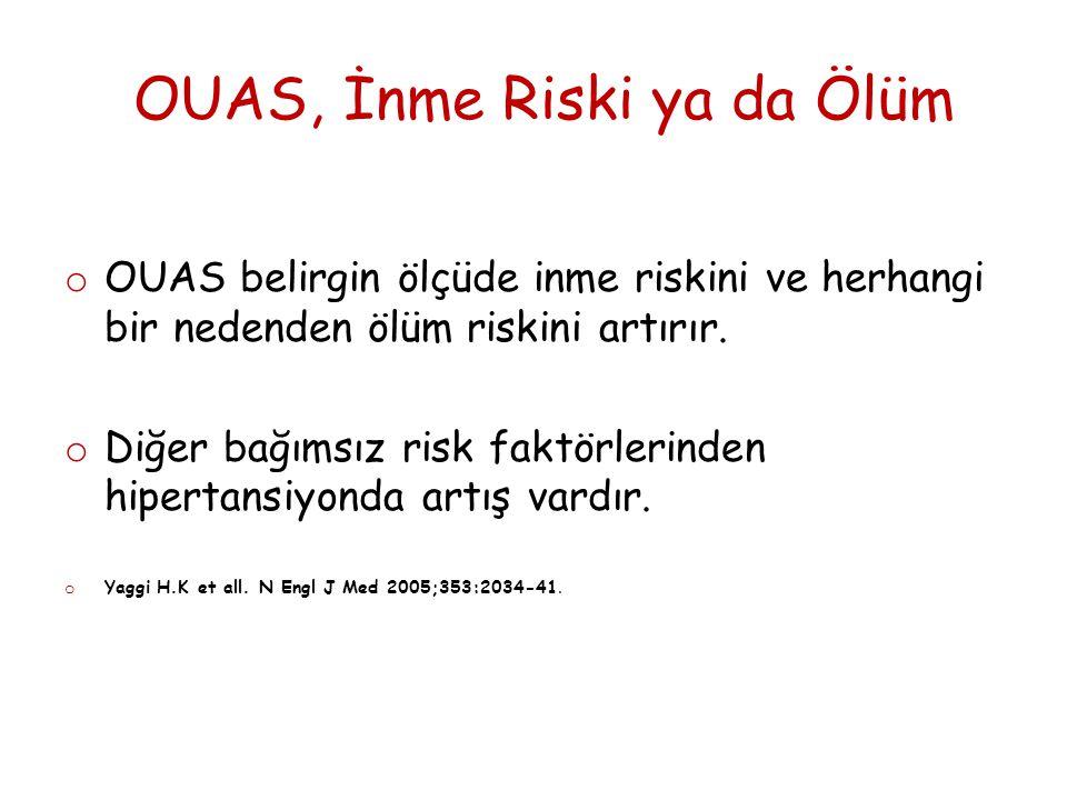 OUAS ve İnme o UBSH varsa, inme atağından sonra ölüm için kötü prognostik faktördür.