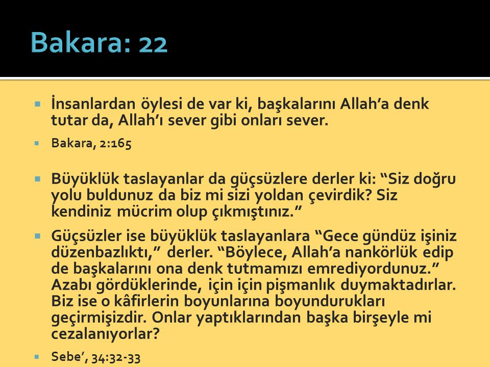  İnsanlardan öylesi de var ki, başkalarını Allah'a denk tutar da, Allah'ı sever gibi onları sever.