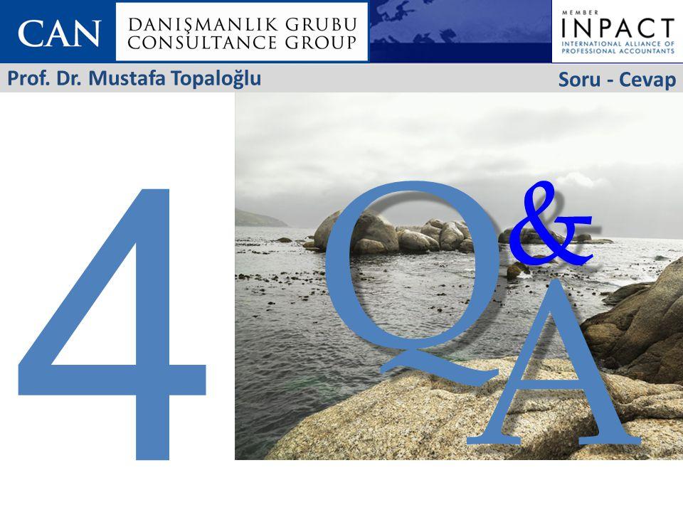 4 Soru - Cevap Prof. Dr. Mustafa Topaloğlu