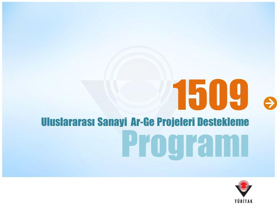 1509 Programı Uluslararası Sanayi Ar-Ge Projeleri Destekleme