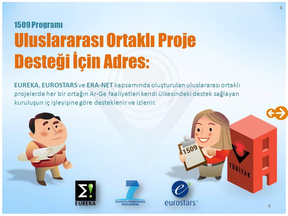 EUREKA, EUROSTARS ve ERA-NET kapsamında oluşturulan uluslararası ortaklı projelerde her bir ortağın Ar-Ge faaliyetleri kendi ülkesindeki destek sağlay