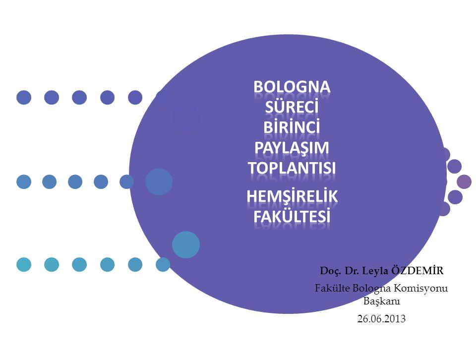 Doç. Dr. Leyla ÖZDEMİR Fakülte Bologna Komisyonu Başkanı 26.06.2013