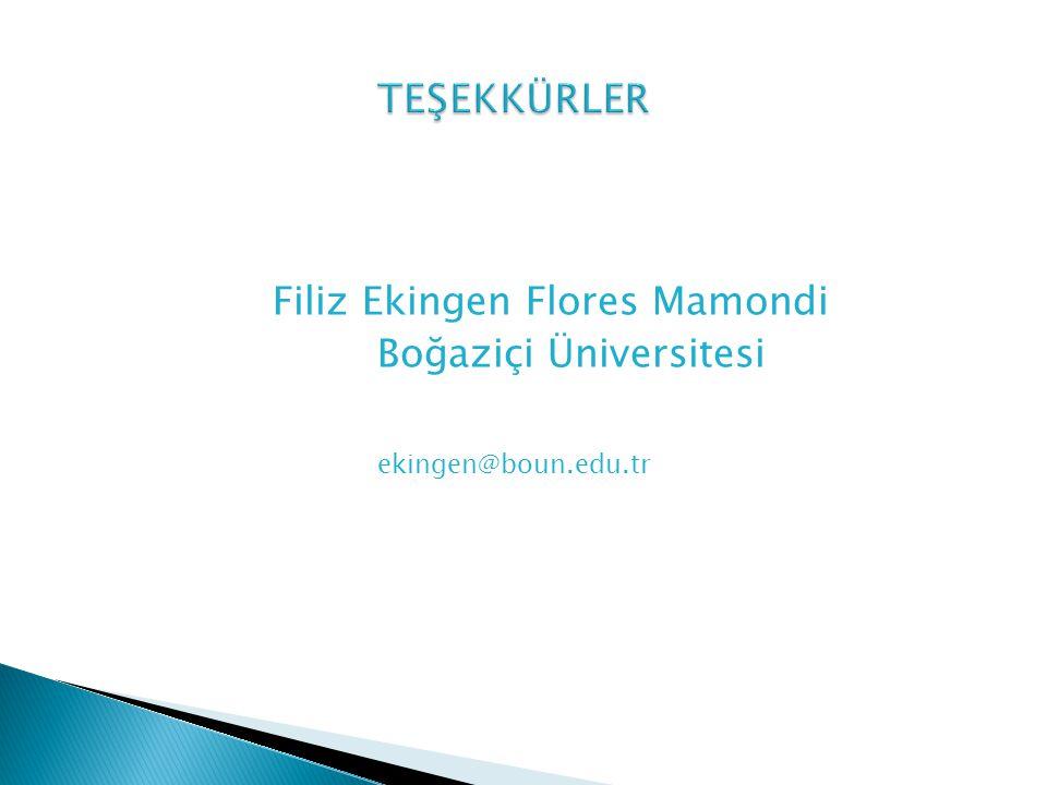 Filiz Ekingen Flores Mamondi Boğaziçi Üniversitesi ekingen@boun.edu.tr