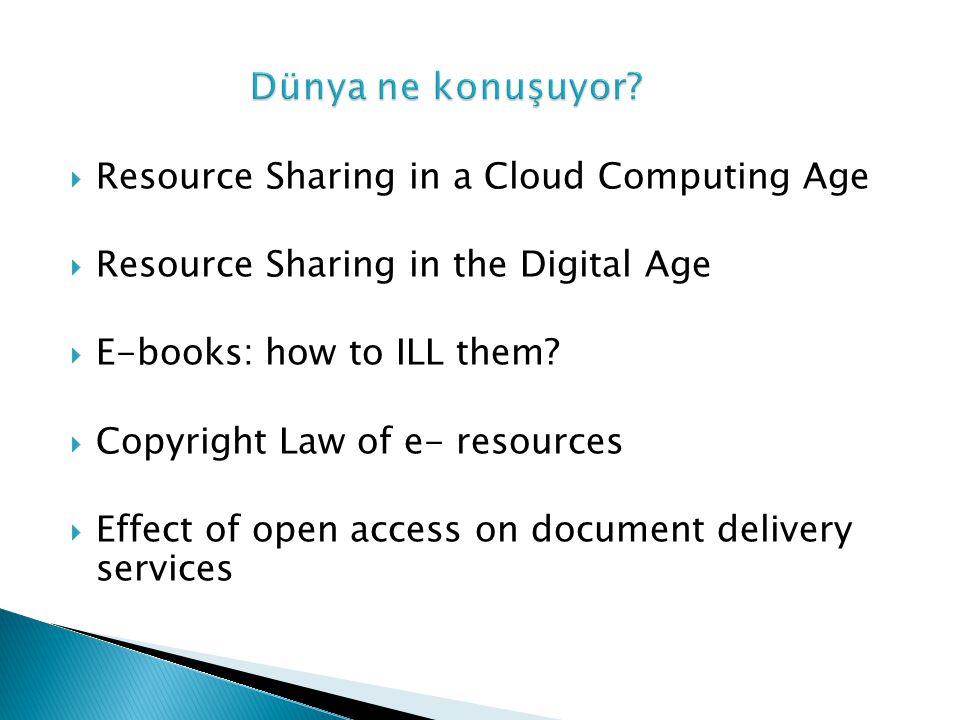Günümüzde artık kaynak sağlama 'hizmet merkezli' değil 'okuyucu merkezli' dir.