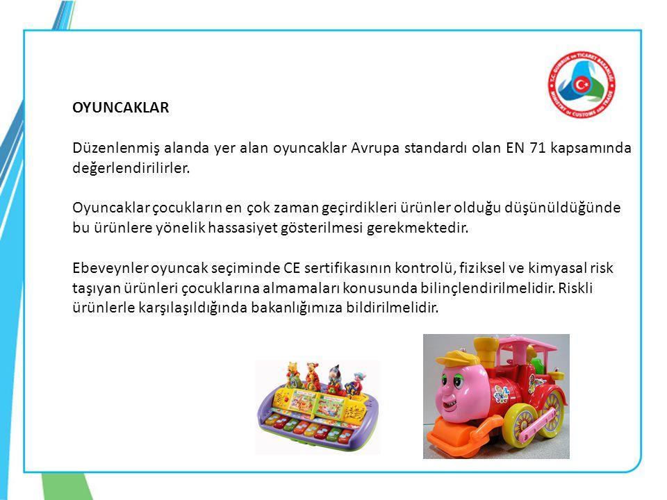 OYUNCAKLAR Düzenlenmiş alanda yer alan oyuncaklar Avrupa standardı olan EN 71 kapsamında değerlendirilirler. Oyuncaklar çocukların en çok zaman geçird