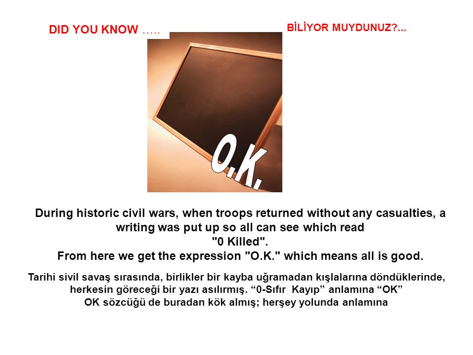 SABIAS QUE… It is impossible to suck your elbow. DID YOU KNOW ….. BİLİYOR MUYDUNUZ?... Dirseğinizi emmeniz olanaksızdır