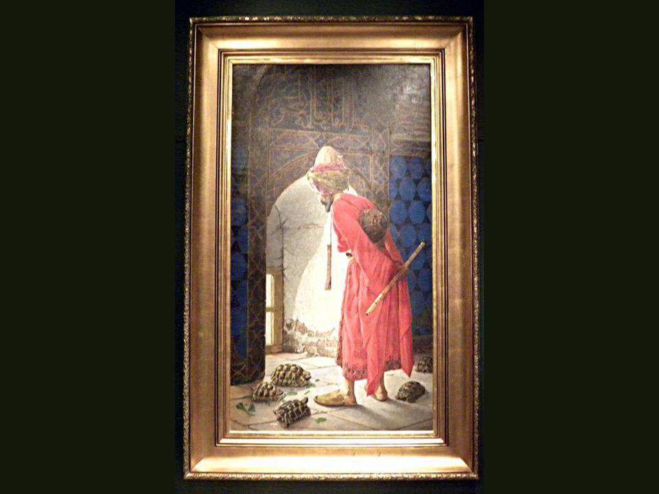 Kaplumbağ Terbiyecisi, Osman Hamdi Bey, Tuval üstüne yağlıboya,1906 Turtoise Trainer, Osman Hamdi Bey, Oil on canvas,1906