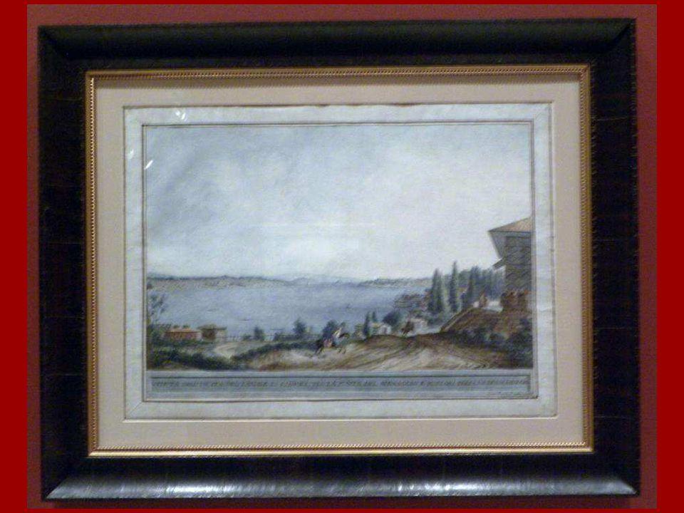 Dolmabahçe 'den Boğaz Girişinin (Üsküdar – Sarayburnu) Görünümü Clara Barthold Mayer Kağıt üstüne suluboya 18. yüzyıl sonu View of the Bosphorus entra