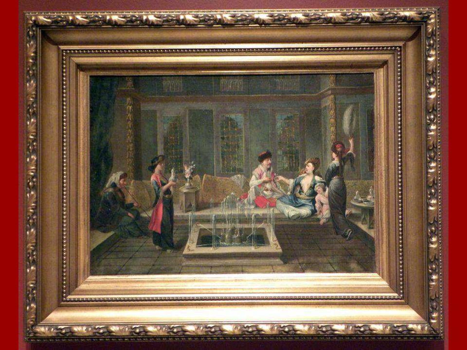Sohbet Vanmour Okulu, Tuval üstüne yağlıboya 18.yüzyılın ilk yarısı The Conversation The Vanmour School, Oil on canvas, first half of the 18th century
