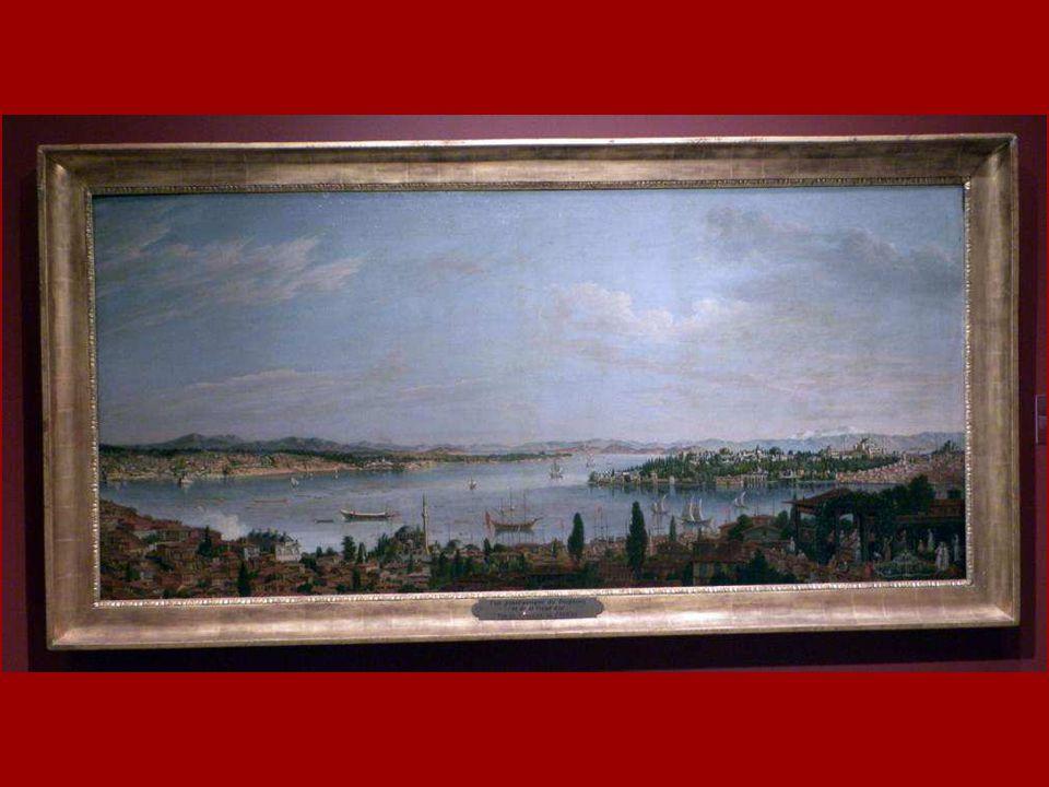 İstanbul Panoraması Antoine de Favray Tuval üstüne yağlıboya 1773 Panorama of Istanbul Antoine de Favray Oil on canvas 1773