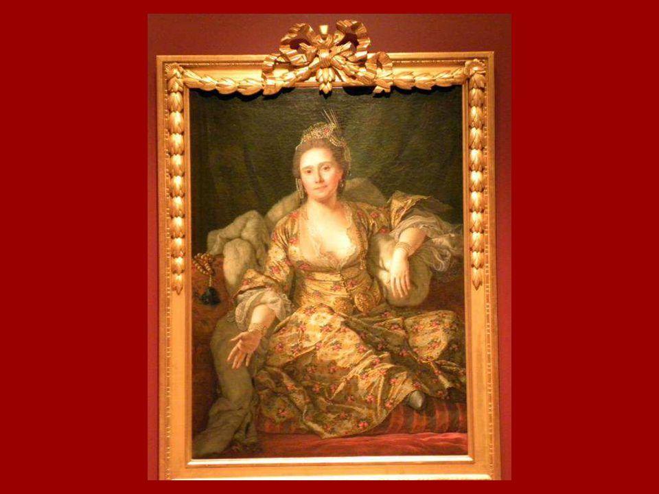 Vergennes Kontesi'nin Türk Giysileri İçinde Portresi Antoine de Favray, Tuval üstüne yağlıboya 1768 Portrait of the Countess of Vergennes in Turkish A