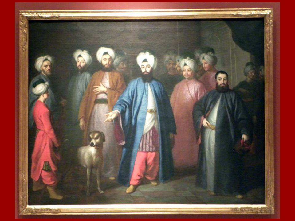 Mehmed Said Efendi ve Maiyeti George Engelhardt Schröder Tuval üstüne yağlıboya 1755 Mehmed Said Efendi and his Retinue George Engelhardt Schröder Oil