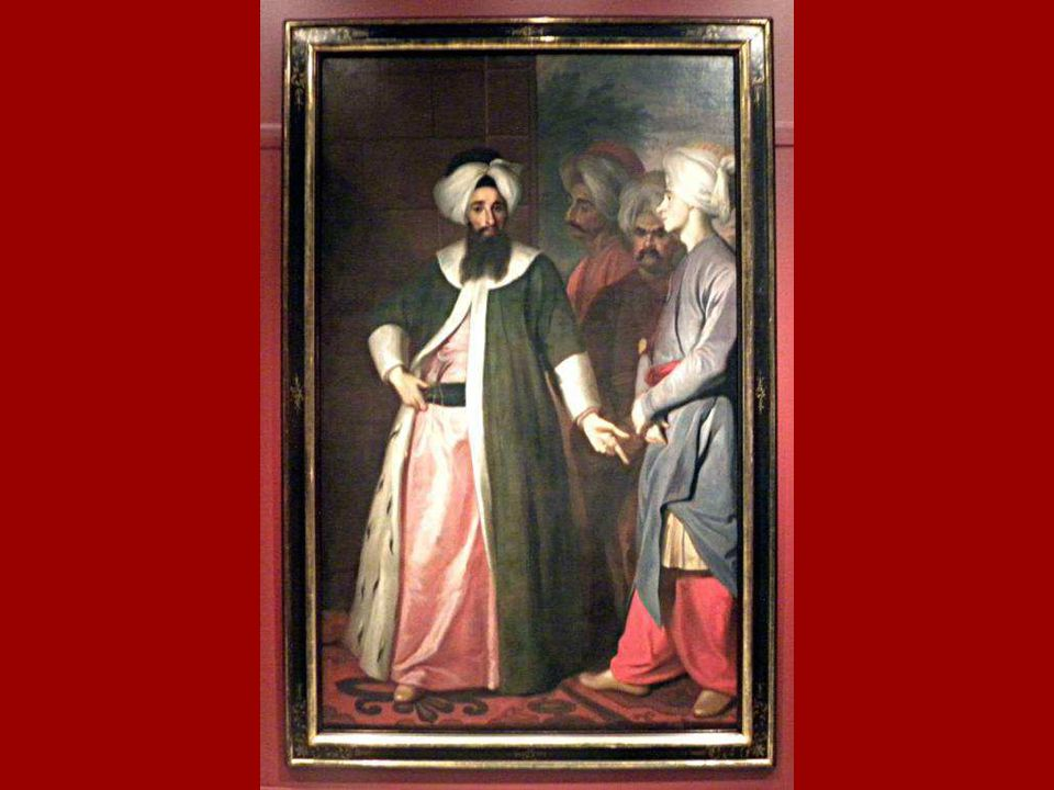 Kozbekçi Mustafa Ağa ve Maiyeti George Engelhardt Schröder Tuval üstüne yağlıboya 1727-28 - ? Kozbekçi Mustafa Ağa and his Retinue, George Engelhardt