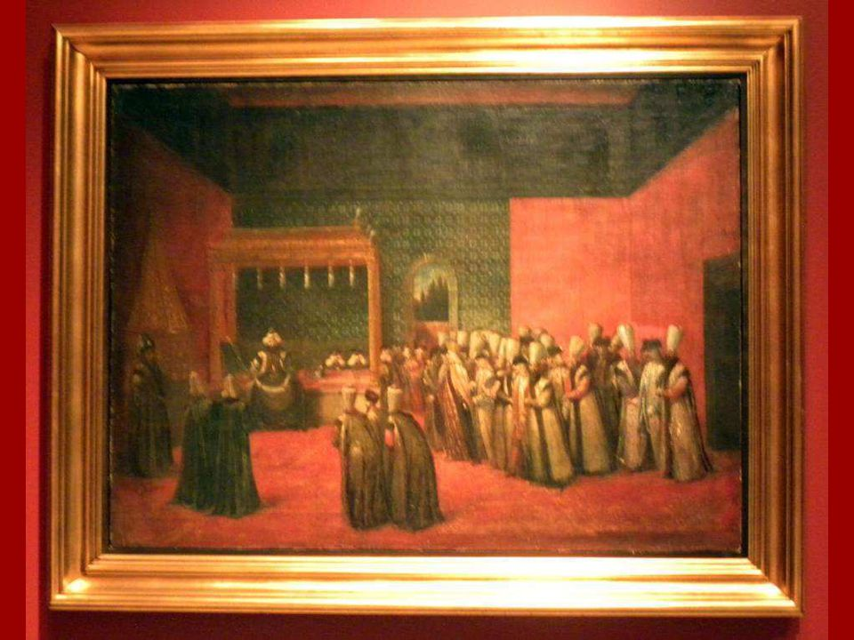 Sultan III.Ahmet'in Avrupalı Bir Elçiyi Kabulü Jean Baptiste Vanmour Tuval üstüne yağlıboya 1725 (?) Sultan Ahmet III Receiving a European Ambassador