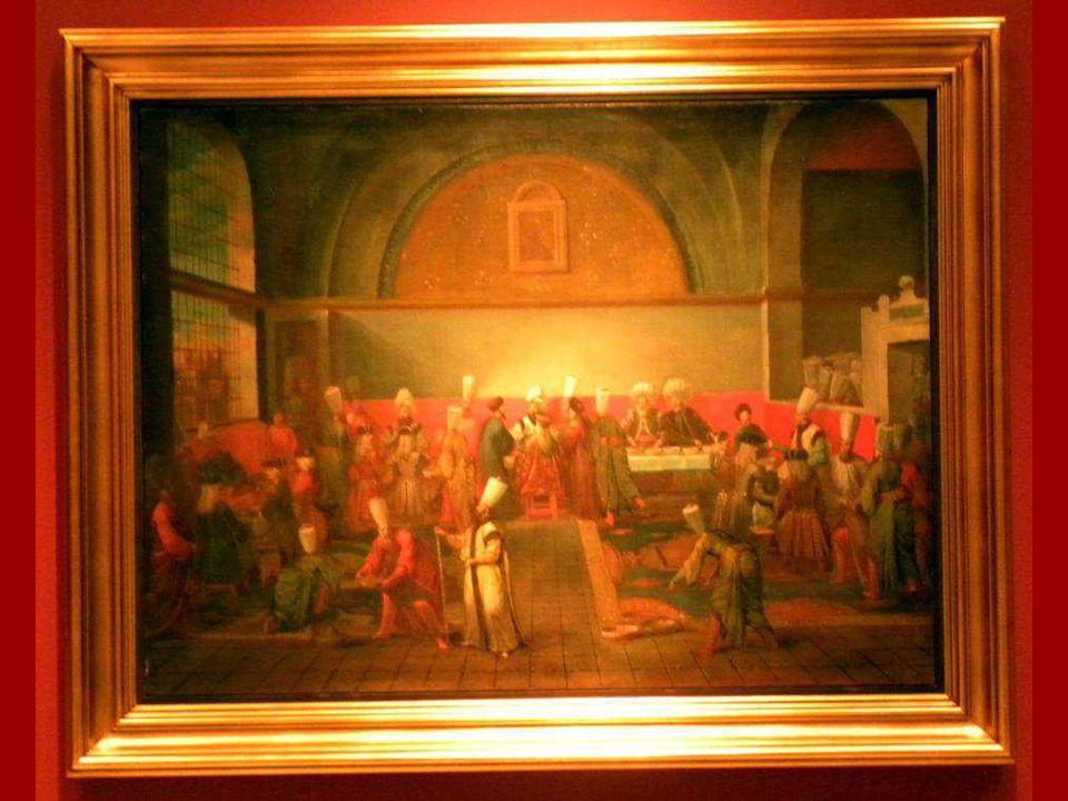 Elçi Onuruna Sarayda Verilen Yemek Jean-Baptiste Vanmour Tuval üstüne yağlıboya 1725(?) Dinner at the Palace in Honour of an Ambassador Jean-Baptiste