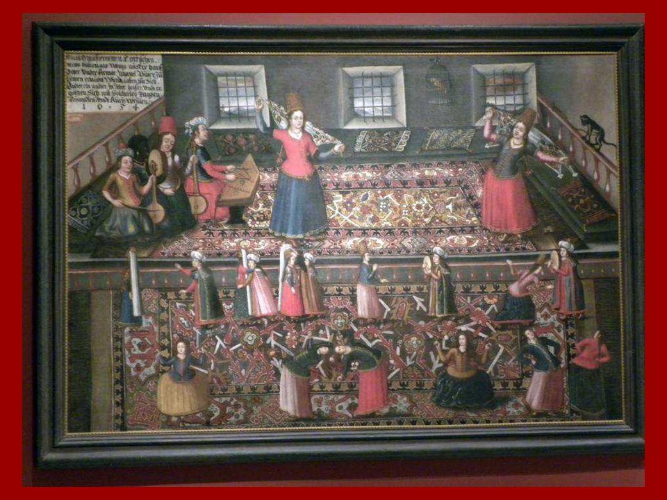 Türk Hareminden Bir Sahne Franz Hermann, Hans Gemminger, Valentin Mueller Tuval üstüne yağlıboya 1654 A Scene from the Turkish Harem Franz Hermann, Ha