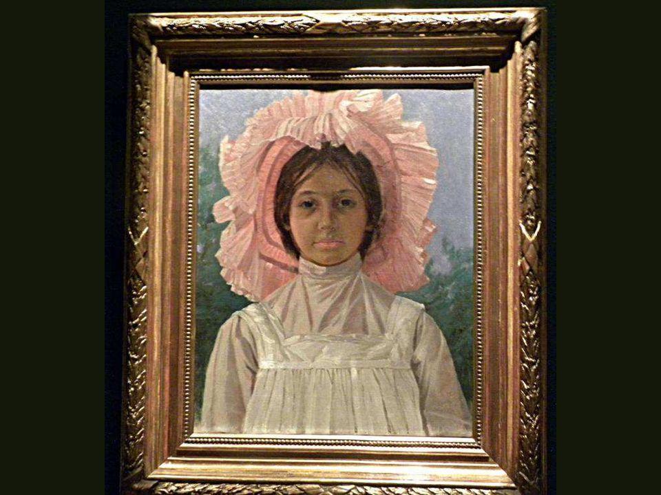 Pembe Başlıklı Kız, Osman Hamdi Bey, Tuval üstüne yağlıboya,1904 Girl with Pink Cap, Osman Hamdi Bey, Oil on canvas,1904