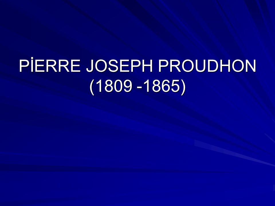 Proudhon kişisel çıkarlara göre hareket etme motifinin sevgi, kardeşlik, kendine görev sayma motifleri ile ikame edilmesine taraftar görünmemektedir.