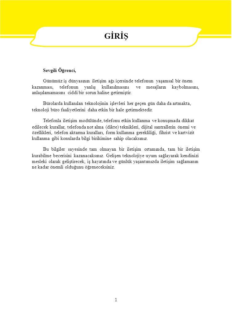 İşlem Basamakları Öneriler Telekonferans sistemini açınız.Telekonferans görüşmesi ile ilgili bilgileri Faaliyet - 3' ten okuyunuz.
