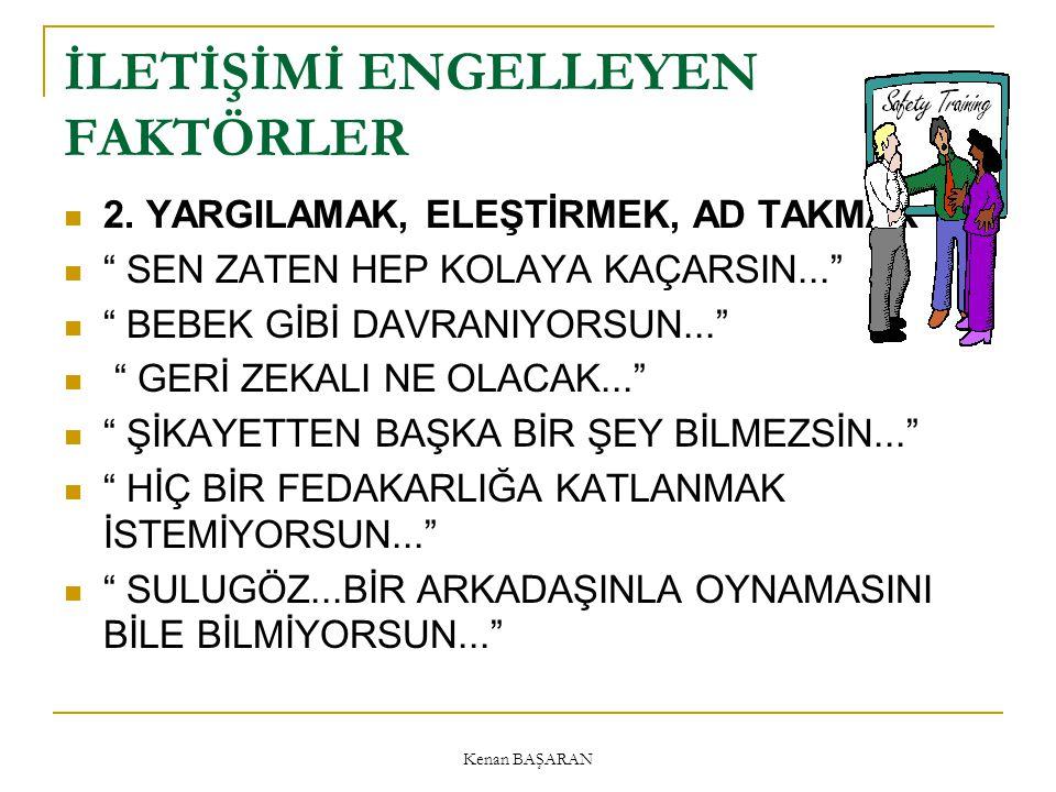 Kenan BAŞARAN İLETİŞİMİ ENGELLEYEN FAKTÖRLER 2.