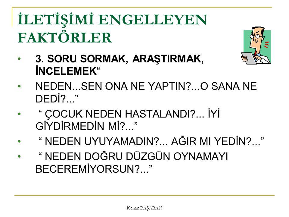 Kenan BAŞARAN İLETİŞİMİ ENGELLEYEN FAKTÖRLER 3.